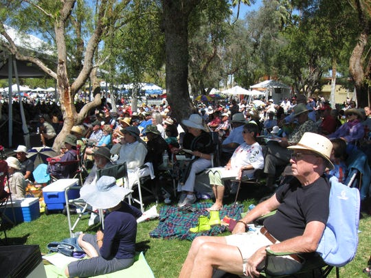 An estimated 6,000 people took in some opera on Sunday, April 1, 2012, at Sunrise Park in Palm Springs. The free outdoor concert returns this Sunday from 1 p.m. to 4 p.m.