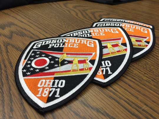 News Gibsonburg police uniform patches designed by officer Mike Senyo feature orange and black color backdrop to support high school colors and an oil derrick supported the industry which the village was founded on.