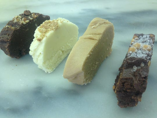 Chocolate pecan, key lime, peanut butter and chocolate