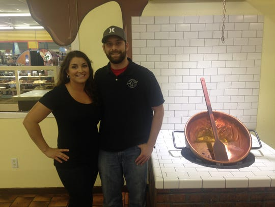 Micaela and Joey Heuglin opened Gulf Coast Fudge Co.