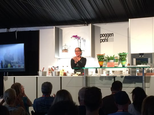 Chef Valerie Gordon starts her demo at the 2016 Palm