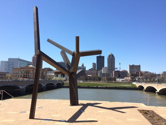 """""""Untitled"""" by Joel Shapiro, located outside Des Moines"""