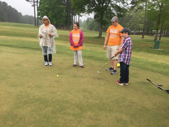 Luke Gambordella (right) golfed in the Louisiana Special Olympics. He came to play with the Cenla region, which includes Avoylles, Catahoula, Concordia, Grant, LaSalle, Rapides,  and Vernon parishes.