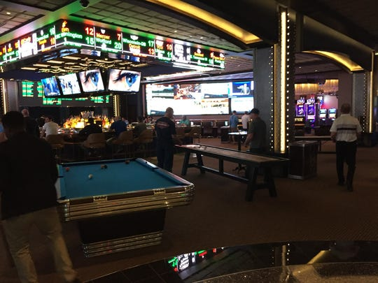 The new sports book at Cosmopolitan Las Vegas.