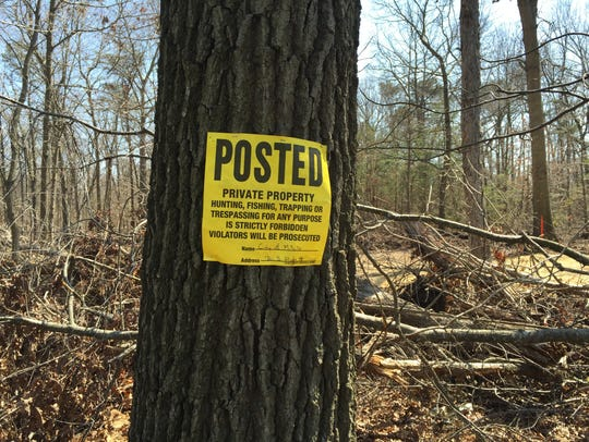 The city has posted warning signs and caution tape