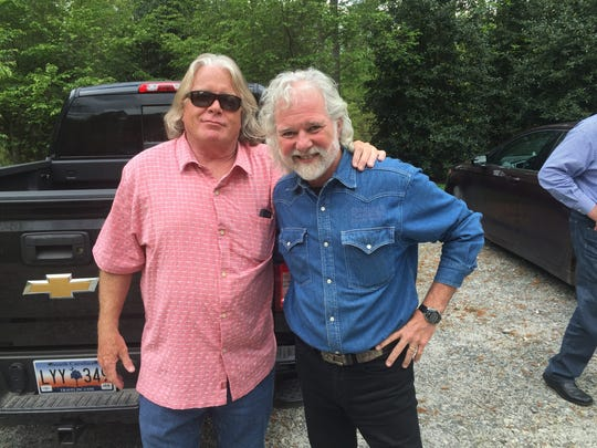 Tom O'Hanlan, left, and Rolling Stones keyboard player, Chuck Leavell.