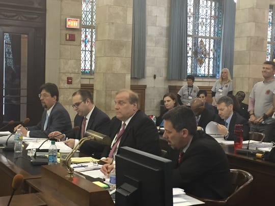 Hespe at the Senate Budget Committee hearing Tuesday.