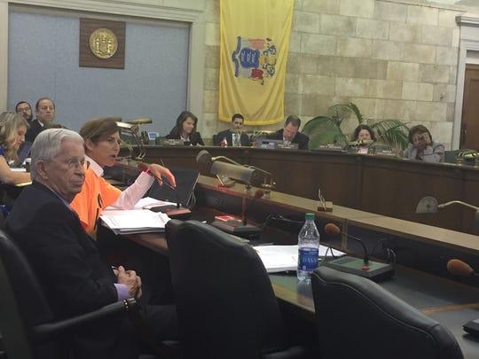 Sen. Beck at the Senate Budget Committee meeting.