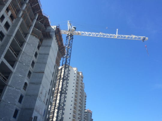 Construction occurs recently on the Altaira luxury tower at The Colony in Bonita Springs.