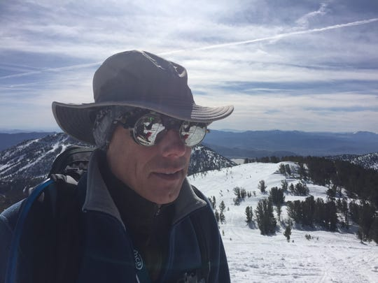 Backcountry skier and wearer-of-cool-glasses Terry Heckler has skied seemingly every square every inch of Tamarack Peak near Reno.