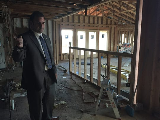 Assembly candidate Jason Guinasso shows his home to the RGJ. Guinasso said his family lives at another address while construction is completed.