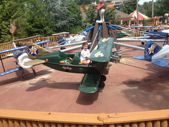 Get ready to soar on the airplane ride at Six Flags Great Adventure in Jackson.