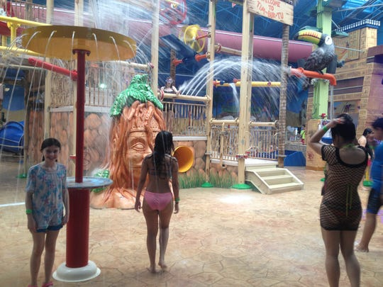 Lots of indoor splashing at Sahara Sam's in West Berlin, an easy day trip from the Shore.