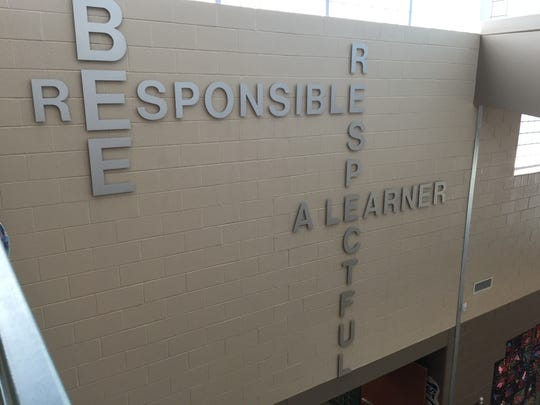 Augusta County Schools' first positive behavior program began in the 90s at Wilson Elementary School. Today the motto hangs in the school's new lobby.