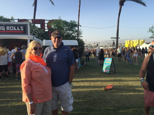 Michael Ritschdorff and Stacey Judd traveled to the Coachella Valley Music and Arts Festival from Chicago.