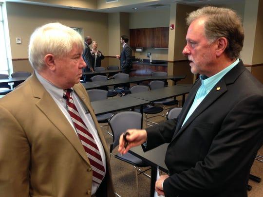 State Rep. Jimmy Eldridge, R-Jackson, speaks with Madison