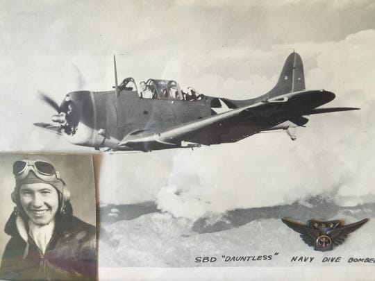 Don Bacin took Navy dive bomber training in World War II, but his training group never was deployed to the war zones.
