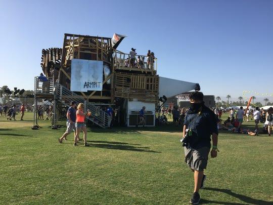 ARMPIT, California Edition by Katrina Neiburga and Andris Eglitis at Coachella on Friday, April 15, 2016.