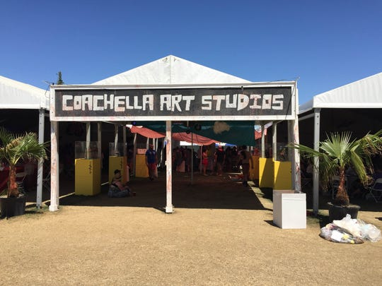 The Coachella Valley Art Scene has organized a Coachella Art Studios space at Coachella's campgrounds since 2008.