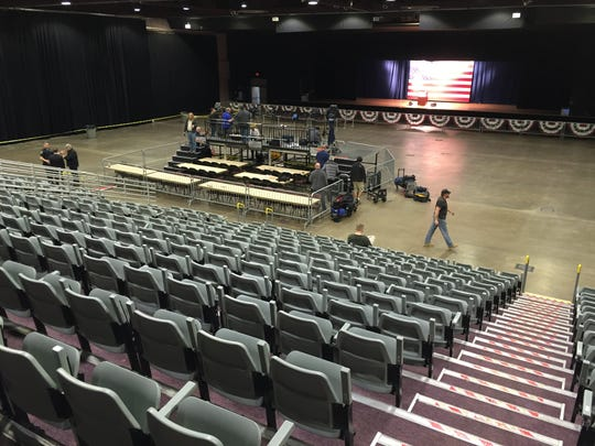 Preparations are underway for Republican presidential candidate Donald Trump's visit to the Mid-Hudson Civic Center in the City of Poughkeepsie Sunday.