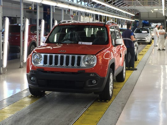 The Jeep Renegade comes off an assembly line in Melfi,