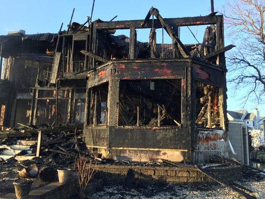 An early morning structure fire displaced two people
