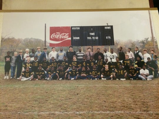 One of the first football teams at Springfield Middle School poses in this 1986 photo.