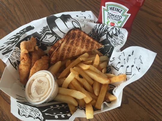Basic fried chicken tenders are served with your choice