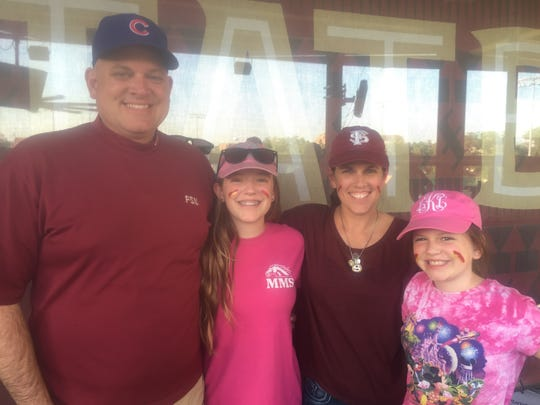Lance Kerwin with daughter Grace, wife Sharyn and daughter