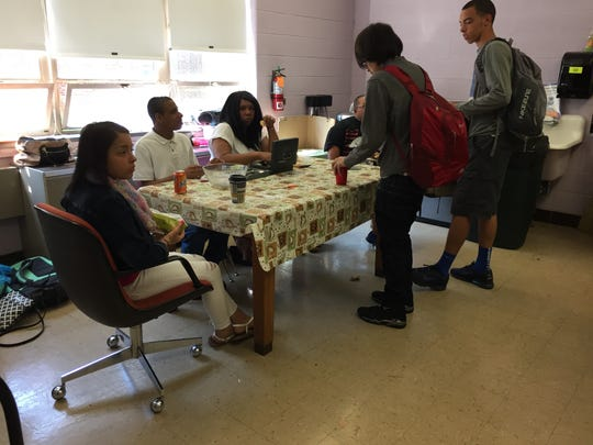 Students in the special education class run a coffee shop on Wednesdays. It has become so popular that customers are limited to two items only.