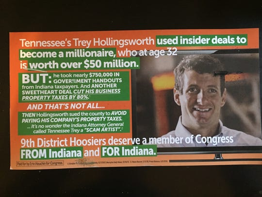 A recent campaign mailer from 9th District congressional