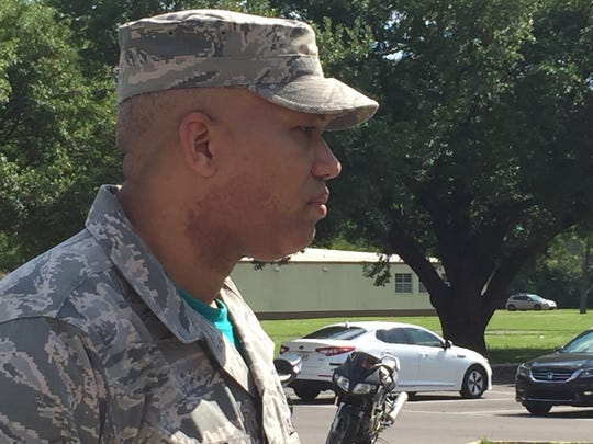 Technical Sgt. Shanco Williams walked because he wanted
