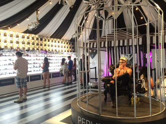 The Perverse Sunglasses  tent at the 2016 Coachella Valley Music and Arts Festival.