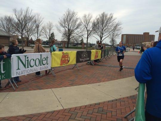 Jesse Schwartz, a UWO student, wins the 5K.