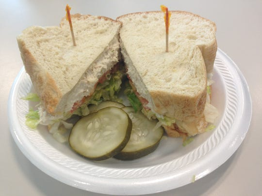 Sandwiches at Pops Cafe in Cape Coral are served on generous slices of house-baked bread.