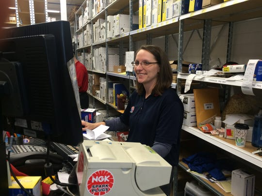 Former Howell Auto Parts store manager Crystal McMann is now a commercial parts professional in the Advance Auto Parts store in Genoa Township.