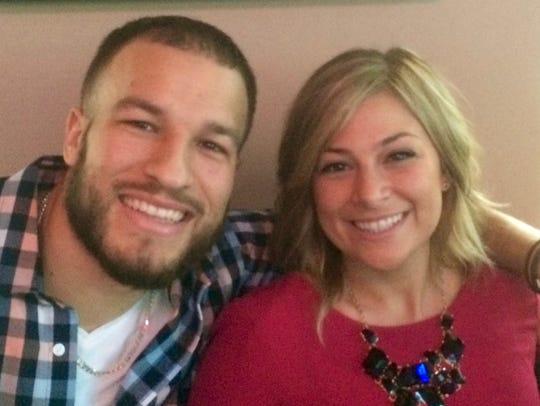Brett Epps (L) with girlfriend Alix Cirigliano