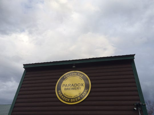 The brown-and-yellow color scheme of the Paradox Brewery