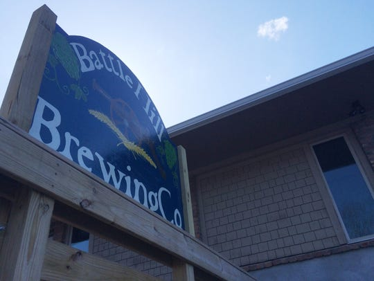 The Battle Hill Brewing Co. is near the intersection