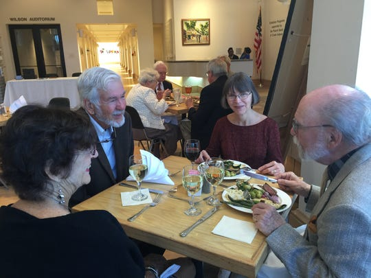 From left, Maurite and Joe Scanlon with Tess and Lou Ware at the MCMO's 55th Anniversary Spring Luncheon at Café M.
