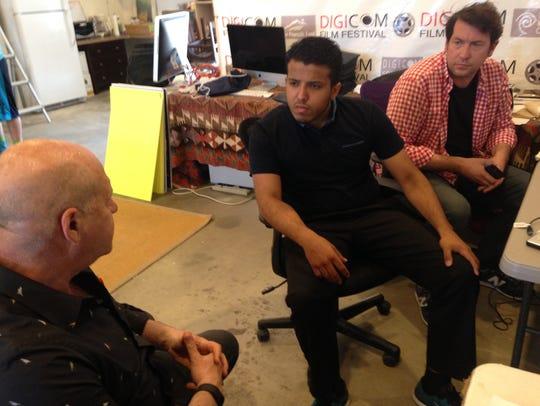 Student Erik Medina with DIGICOM Founder David Vogel