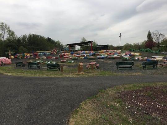 Greek's Playland will be open to the public Sunday and visitors can tour the site's more than 80 acres of barrier free activities and items of interest, including the tire park.