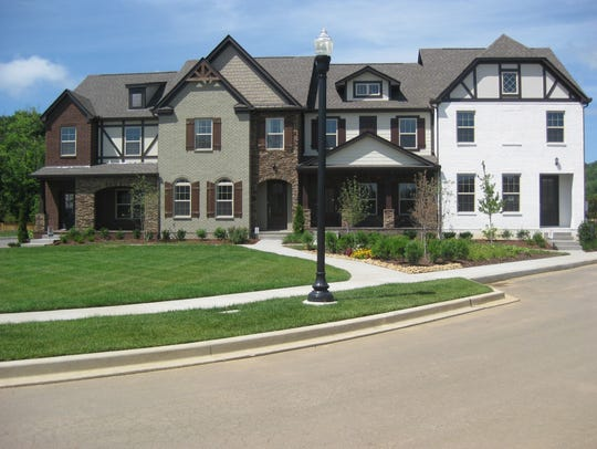 Townhomes Goodall Homes built at the Shadow Green community