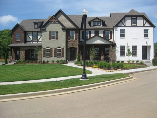 Townhomes Goodall Homes built at the Shadow Green community in Franklin