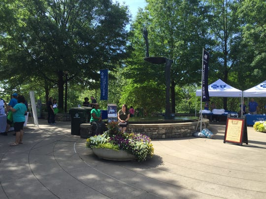 Blue Cross Blue Shield of South Carolina hosts National Walk @ Lunch Day at Falls Park on April 29, 2016