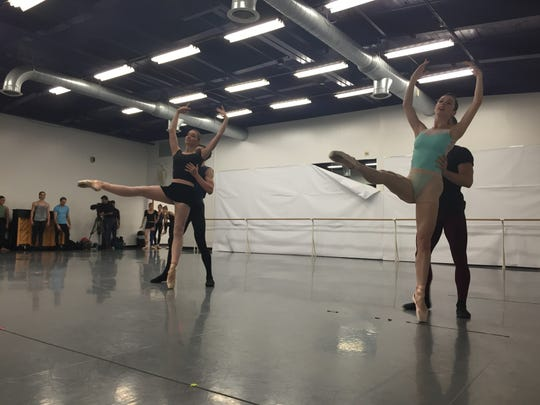 A 2016 rehearsal of Ballet on the Edge — Under the Moonlight, in the Rochester City Ballet studios