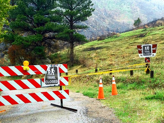 Young Gulch remains closed to hikers and mountain bikers.