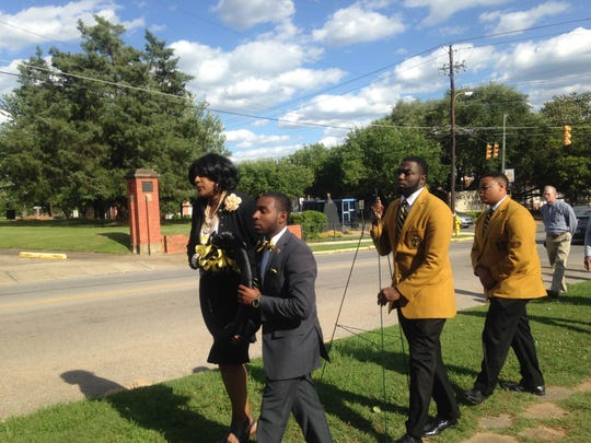 A candlelight vigil was held May 5 at Alabama State University for student Demetrius Bell, killed Monday in an on-campus car crash at the site of the accident, the 800 block of South Jackson Street.