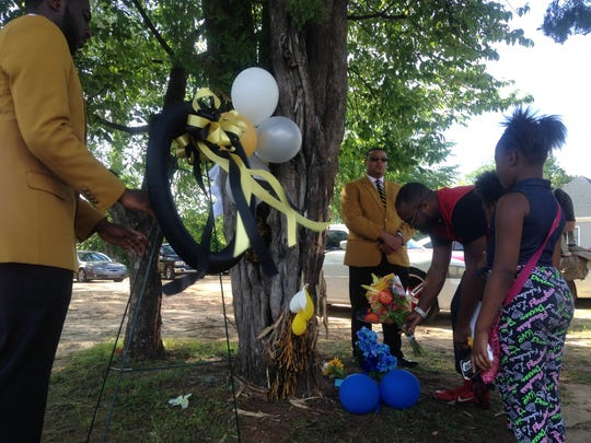 A candlelight vigil was held May 5 at Alabama State
