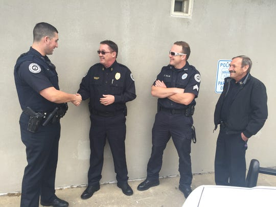 Portland's new police Anthony Heavner (second from